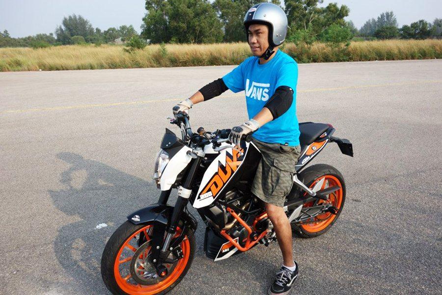 KTM Duke 200 Height